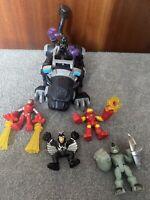 Playskool Heroes Marvel Super Hero Black Panther Figure & Paw Play set & Extras