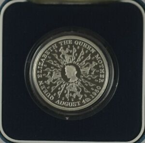 1980 QUEEN MOTHER SILVER PROOF CROWN - boxed/coa