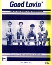 Rascals 1965 Good Lovin' Sheet Music 4 Pages Beautiful Rare Vintage Cavalerie !