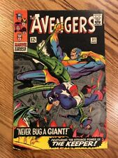 THE AVENGERS NO.31 AUGUST, 1966  THE WASP, GOLIATH + HAWKEYE