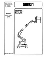 heavy equipment manuals books for boom lift for sale ebay rh ebay com Genie Aerial Lifts Manuals Aerial Lift Safety