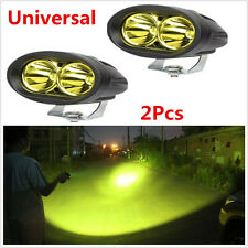 2Pcs Yellow CREE 20W Spot LED Work DRL Light Car Truck Boat Driving Fog Offroad