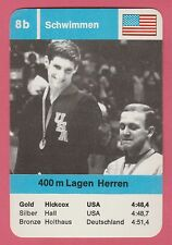 German Trade Card 1968 Olympics 400m Swimmer Gold Medal Winner Charlie Hickcox