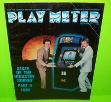 PLAY METER Magazine Nov 1983 Video Arcade Games Bega's Battle Discs of TRON