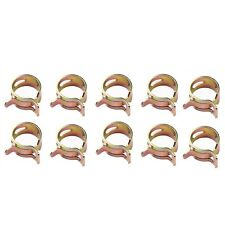 "Id 1/4"" 6 mm Spring Clip Vacuum Fuel Oil Hose Line Band Clamp Low Pressure 10 pc"