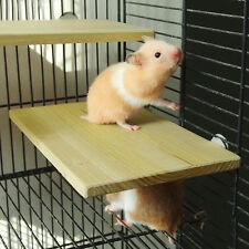 Wooden Parrot Pet Bird Rectangle Hanging Stand Perch Platform Play Toy/Cockatiel