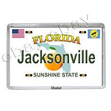 Florida Jacksonville-Souvenir Magnete Foto-foto-magnetico 5mm Acrilico Nuovo