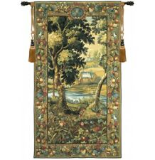 """Verdure Meudon French Tapestry Wall Hanging H 78"""" x W 44"""""""