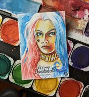 Cryptozoic DC Bombshells III Harley Quinn Artist Proof Sketch Card Jimenez 1/1