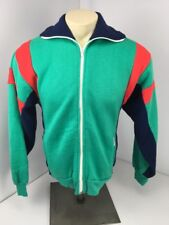 Vintage 80's Retro Galaxie II Blue Red Green Fleece Sweatshirt Track Jacket M