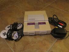 SNES Super Nintendo Console w/ 2 Controllers and 4 games Super Mario All Stars