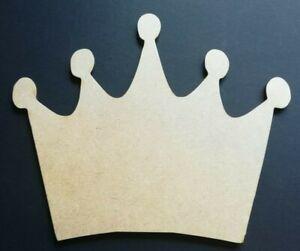 Wooden Mdf Crown Shape Royal Princess Crown Craft Blank Embellishment Free Post