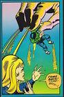 HULK COME BACK MARVEL THIRD EYE Black light Greeting Card HERB TRIMPE 1971