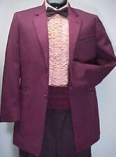 Vintage 4pc Burgundy Retro Prom Tuxedo Beetlejuice 36L