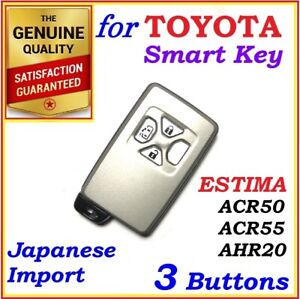 FOR TOYOTA ESTIMA REMOTE SMART KEY 3 BUTTONS - ACR50 / ACR55 / AHR20