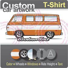 Custom T-shirt 1964 65 66 1967 68 69 1970 Dodge A-100 Custom Sportsman Van Fargo