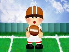 Vivero deportista Rugby Bola de paso verde casco Dormitorio de Niños cartel MP4383B