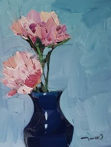 JOSE TRUJILLO Oil Painting IMPRESSIONISM CONTEMPORARY COLLECTIBLE STILL LIFE  NR