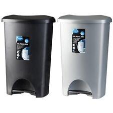 50L Addis Foot Pedal Bin Dustbin Plastic Rubbish Paper Waste Kitchen Office Bins