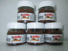 5 x25g Ferrero NUTELLA mini glass jar collectable from ITALY New and rare