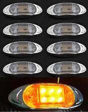 8x LED LATERAL NARANJA Luces de marcaje CROMO camión para MAN DAF VOLVO CLARO