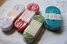 Lot of 4 10 meters Grosgrain Ribbon Spools Blue Red White Green Brand New Sealed