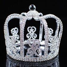 King Tiaras Diadem Renaissance Crowns Rhinestone Wedding Pageant Party Costumes