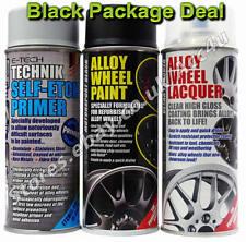 E-Tech Professional BLACK Car Alloy Wheel Spray Paint Lacquer Self Etch Primer