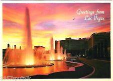 Caesars Las Vegas Hotel Casino Sunset Fountain Vintage postcard Plastichrome A