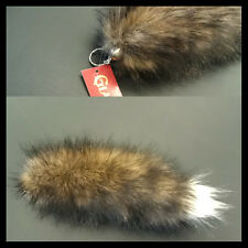 BROWN Faux Fur Tail Accessory Key chain Key Holder