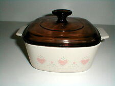 Corelle FOREVER YOURS 1.5 Qt Sq Covered Casserole EXC