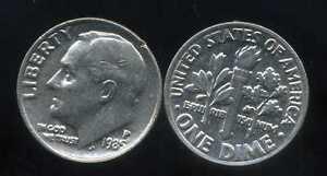 USA dime  1985 P   ( bis )