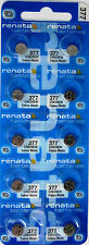 Mercury Batteries x 10 377 Renata Sr626Sw 0%