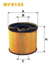 WIX WF8195Car Fuel Petrol Filter Cartridge Plastic Ends Replaces- PU922x