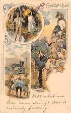 Grus Aus Goslar Germany Mountain and Train Scenes Antique Postcard L778
