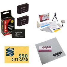 Opteka LP-E12 Battery (3x) Pack Bundle for Canon EOS M M2 Rebel SL1 100D