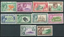 Pitcairn Islands KGVI 1940-51 set of 10 SG1/8 MNH