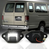 2x LED Van Rear Number License Plate Light Lamp For Ford E-150 E-250