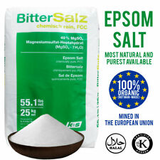 Epsom Salts | BP FCC Food Grade 100% Organic Grade | 100g - 25KG | Bathing Salt