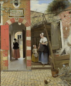 Pieter de Hooch The Courtyard of a House in Delft Giclee Paper Print Poster