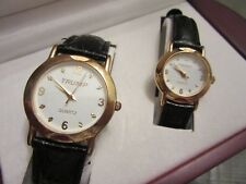 TRUMP MARINA CASINO His and Hers WATCH - Quartz w/Battery in Box - Works!