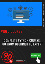 Complete Python Course: Go From Beginner To Expert video tutorial