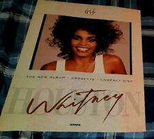 WHITNEY HOUSTON ORIGINAL 1987 PROMO POSTER FOR HER ALBUM 'WHITNEY'