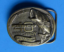 ZEBCO Fishing Reels Belt Buckle - NEW 1989 40th Anniv Limited Ed Largemouth Bass