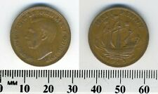 GREAT BRITAIN 1943 -  Half Penny  Bronze Coin - King George VI - WWII Mintage