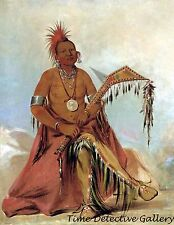 Clermont, First Chief of the Osage Tribe -1834 - Native American Art Print
