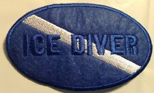 Diver Down Oval Ice Scuba Patch 4x2.5 Embroidered applique Cold Water Misprint