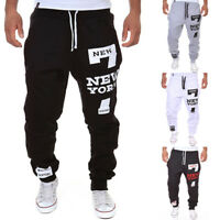 AU Men's Jogger Gym Sportswear Baggy Harem Pants Slacks Trousers Sweatpants