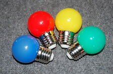 4x Lichterkette LED 1W Leuchtmittel E27 1 Watt E-27 rot gelb grün blau