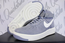 NIKE AIR FORCE 1 ULTRAFORCE HIGH SUEDE SZ 8 GLACIER GREY WHITE 880854 004